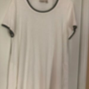 LOGO by Lori Goldstein Tops - LOGO off white cotton top. Size 1x
